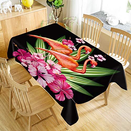 XXDD Mantel de Flamenco Oxford Estampado Rectangular Impermeable a Prueba de Aceite Boda Decorativa decoración del hogar Cubierta de Mesa A5 140x200cm