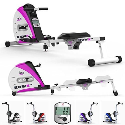 We R Sports Premio Canottaggio Macchina Corpo Tonner Casa Vogatore Fitness Cardio Allenamento Peso Perdita (Rosa)