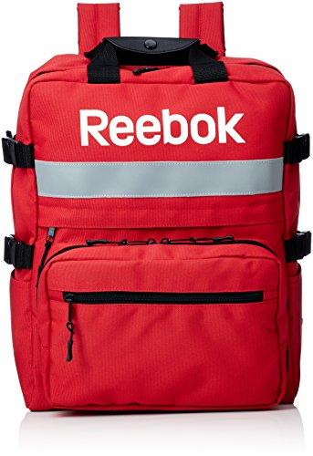 [リーボック] Reebok リーボック リフレクター リュック 大容量 a4 バックパック サイドファスナー ビックリュック スクエアリュック リュックサック レッド One Size