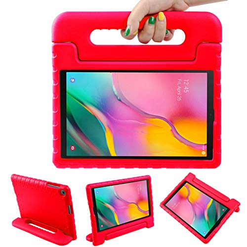 LEADSTAR Funda para Samsung Galaxy Tab A 10.1 2019, Ligero y Super Protective Antichoque EVA Estuche Protector Diseñar Especialmente Manija Caso con Soporte para los Niños, SM-T510 / T515 (Rojo)