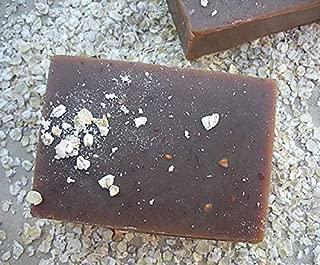 Large Bar 4.5 oz Oatmeal Milk & Honey Bar Soap - Handmade & GMO Free Face & Body Cleanser featuring Oatmeal, Goat's Milk & Honey
