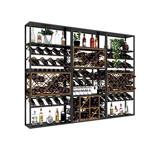 LYN-UP Botelleros, Retro Industrial Bar Viento Decoración Estante de Vino Rojo Rack de Almacenamiento Decoración del hogar Racks de Almacenamiento (Size : 240 * 35 * 180CM)