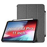 ProCase iPad Pro 11 Case 2018 Old Model with Apple Pencil Holder [Support Apple Pencil Charging], Protective Smart Cover Shell Stand Folio Case for Apple iPad Pro 11 Inch 2018 Release –Gray