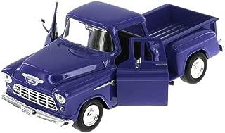 Showcasts 1955 Chevy 5100 Stepside Pickup Truck, Blue 73236AC/BU - 1/24 Scale Diecast Model Toy Car