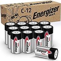 12-Count Energizer MAX C Premium Alkaline C Cell Batteries