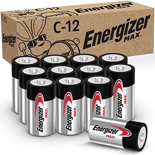 Energizer MAX C Batteries, Premium Alkaline C Cell Batteries...