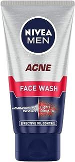 NIVEA Men Acne Face Wash for Oily & Acne Prone Skin, Fights Oil & Dirt with Magnolia Bark Power, 50 g