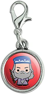 GRAPHICS & MORE Harry Potter Dumblesore Cute Chibi Character Antiqued Bracelet Pendant Zipper Pull Charm with Lobster Clasp