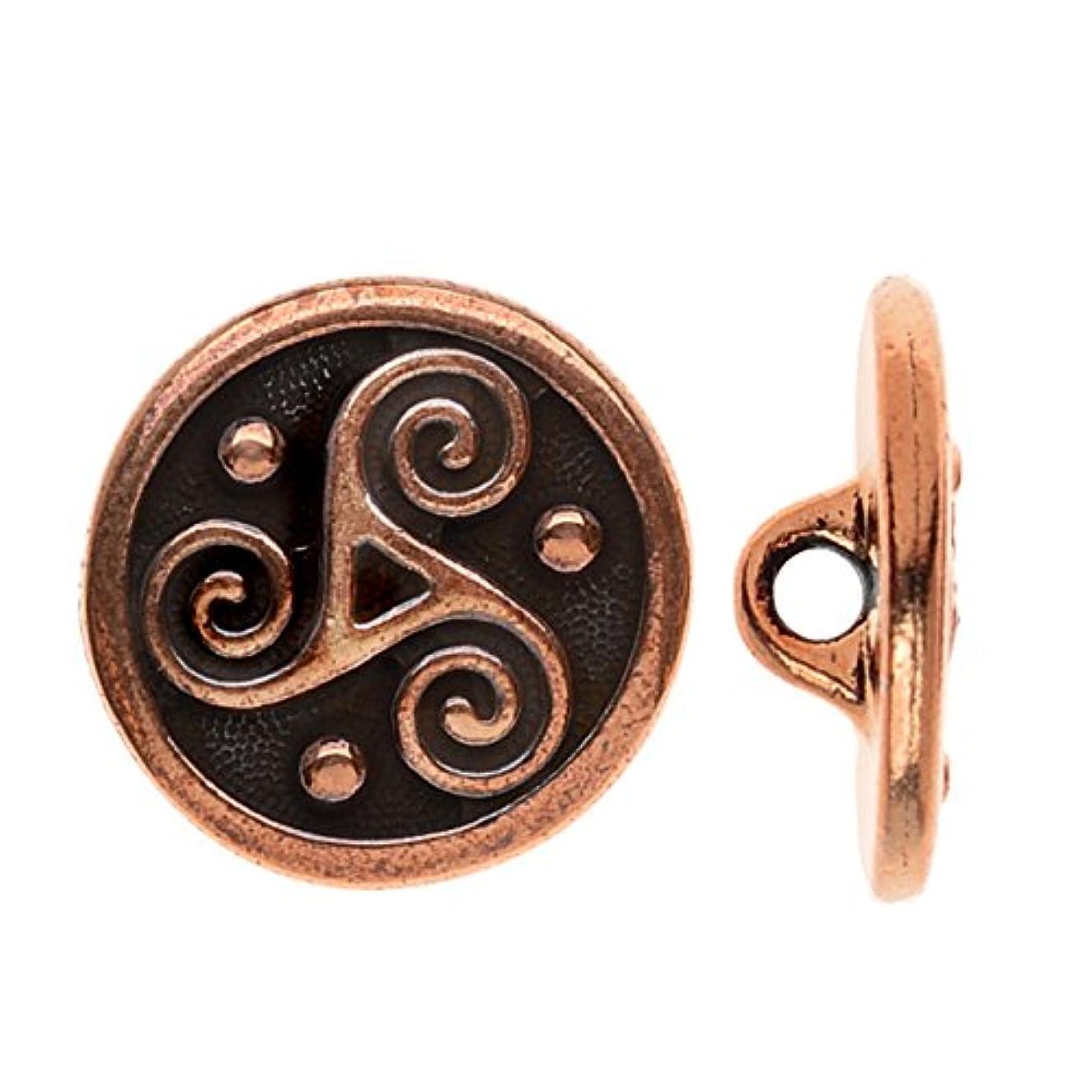 TierraCast 94-6566-18 Button Triskle, 16mm, Antique Copper