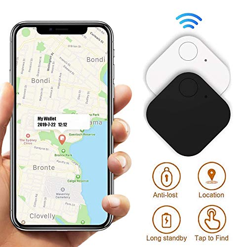 Key Finder, 2-Pack Smart Tracker, Item Finder Phone Finder Smart Tracker Bluetooth Tracker with Recording Function and Anti-Lost Alarm Reminder, Use for Keys, Pets, Wallet, Cell Phone, iPad, etc