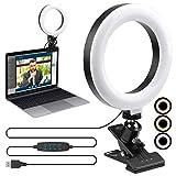 Videokonferenzbeleuchtung ENEGON, 6' Selfie Ringleuchte, dimmbare Leuchte mit Klemmhalterung für Videokonferenzen, für Fernarbeit   Selbstübertragung   Live Streaming   Zoom-Anrufe
