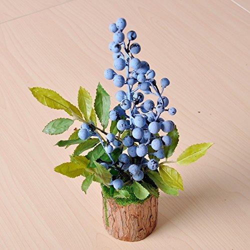 XCZHJ Kunstmatige decoratieve bloemen, moderne woonkamerdecoratie van de kunstmatige bloem van de blauwe bessen, bloemenproducten omvat: kunstbloemen & planten, bloemen, planten, bloemendecoratie.