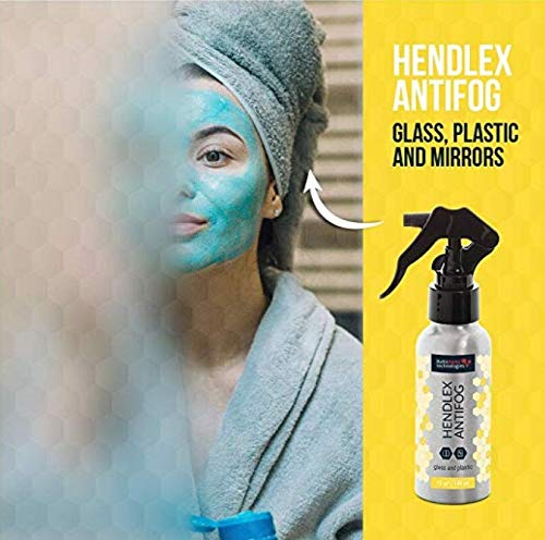 51QkXejgFKL - Hendlex Anti Fog Spray for Goggles, Car Windshield Treatment and Bathroom Mirror Multi Purpose and Long Lasting 3.38
