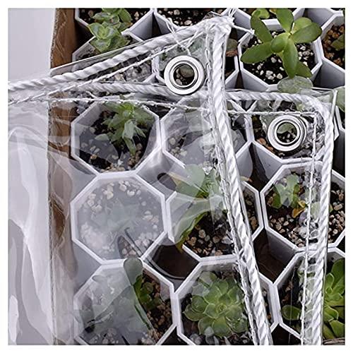 Lonas claras Cubierta de lona transparente, cortinas de balcón, resistencia a la intemperie de 0.35mm a prueba de intemperie con ojales inoxidables para cubierta de planta, muebles de jardín, formas i