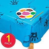 Baker Ross AC773 Blaue Plastik Tischdecke / Splashmat,150cm x 150cm - 2