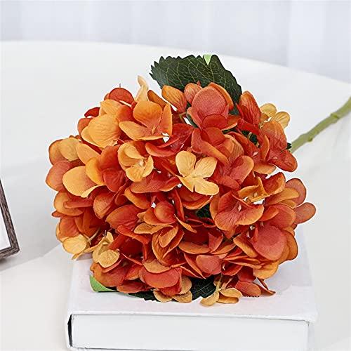 WANGJBH Trockenblumen Hause Dekoration Hochzeit Hortensien Künstliche Blume Seide Blume Gewölbte Tür Straße Führen Blume Künstliche Blumen Simulierte Künstliche Blume (Farbe : Orange)