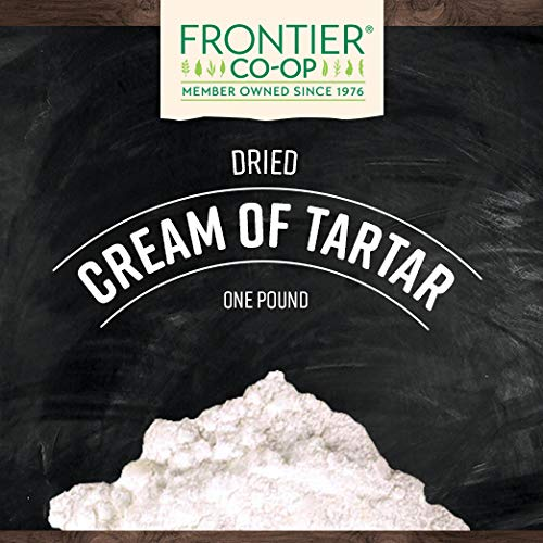 Frontier Co-op Cream of Tartar Powder, Kosher, Non-irradiated | 1 lb. Bulk Bag