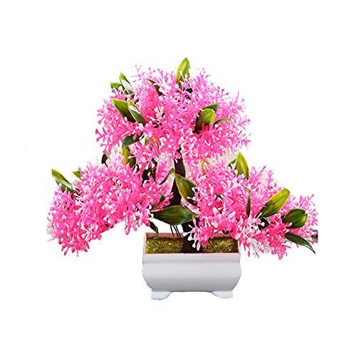 CGBF-kunstplanten kunstbomen kunstbloemen met witte pot, levensechte bloemblaadjes 20 cm hoog en 30 cm breed, decoratie voor thuiskantoor bureaublad vensterbank