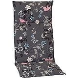 nxtbuy Gartenstuhl-Auflage Barcelona 118x50 cm Vintage Flower 4er Set - Hochlehnerauflage für Gartenstühle - Stuhlauflage mit Komfortschaumkern - Made in EU / ÖkoTex100
