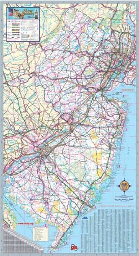 36x64 New Jersey State Official Executive Laminated Wall Map
