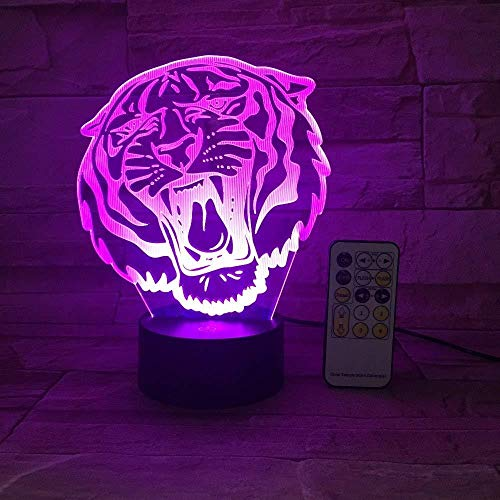 3D Illusion Night Light bluetooth smart Control 7&16M Color Mobile App Led Vision RC Transmitter or Animal Lion House Decor Flh colorful Creative gift