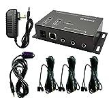 SZBJ IR Repeater,IR Remote Control Extender,Infrared Repeater System (3 Dual Head ir emitter)