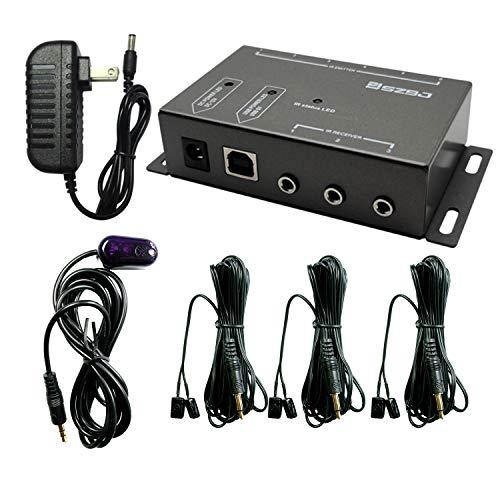 SZBJ IR-Repeater, IR-Fernbedienungs-Extender, Infrarot-Repeater-System (3 Dual-Head-IR-Emitter)