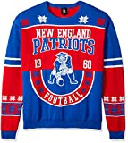 NFL New England Patriots RETRO Ugly Sweater, Large