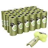 Viesap Bolsas Caca Perro, 390 Bolsas Para Excrementos De Perro Con Dispensador, Extra Gruesas Bolsas Perro Biodegradables Poop Bag Para Mascotas Domésticos, Fuertes Poop Bag Para Perro Mascotas, Verde