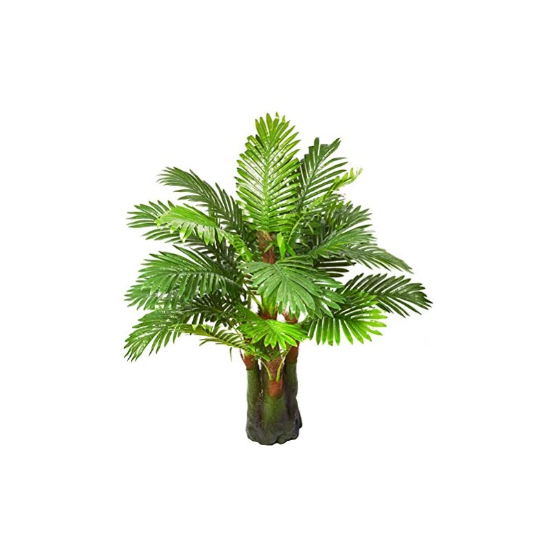 silk flower arrangements 3.28-ft artificial palm leaf tree plants imitation leaf artificial plant green greenery plants faux faketropical large palm leaves tree outdoor uv resistant plants for home kitchen