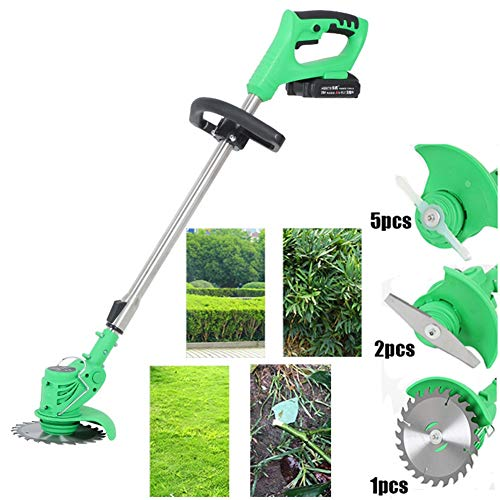 Buy AJL Cordless Trimmer with 21V Battery and Charger, Electric Telescopic Grass Strimmer Garden Wee...