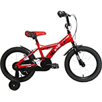 "Umit J1650 Bicicleta Infantil, Niños, Rojo/Negro, 16"""