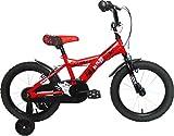 Umit J1650 Bicicleta Infantil, Niños, Rojo/Negro, 16'