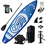 FunWater Inflatable 10'x31''x6'' Stand UP Paddle Board Ultra-Light (17.6lbs) Everything Included ISUP, Adj