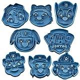 Cuticuter Paw Patrol Pack Ausstechform, Blau, 16x 14x 1.5cm, 8Stück