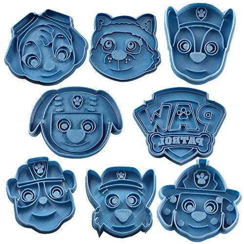 Cuticuter Paw Patrol Pack Cortador de Galletas, Azul, 16x14x1.5 cm, 8 Unidades
