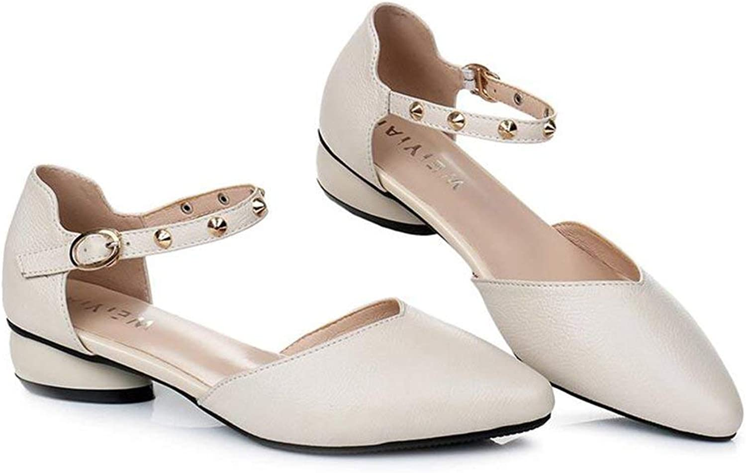 Comfortable and beautiful ladies sandals Casual shoes Female Rubber Fashion Pure color Leather Single shoes