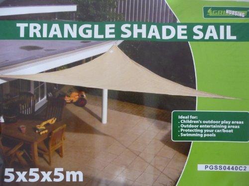 point-garden Triangolo Di Sole Protezione Sole Vele Ombra 5x5x5 m Nuova