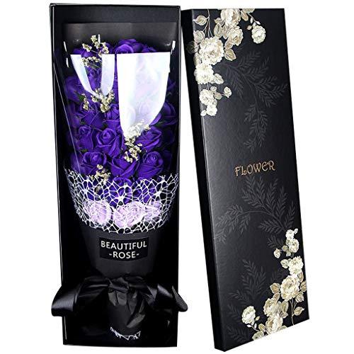Kolylong® Valentins Taggeburt Stagsgeschenk Blumenstrauß FüR Rosafarbenen Seifen Blumen Seifenblumenstrauß Kunstblumen Künstliche Blumen Geschenkbox 58x18x8cm