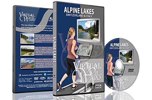 Virtuelle Spaziergänge - Alpine Seen der Schweiz & Italien für Indoor Walking, Laufband und Radfahrtraining