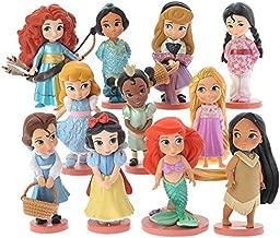Disney 11 Pcs/Set Pvc Action Figures Cute Cartoon Mini Princess Mermaid Toys Models Girls Gifts lih6929