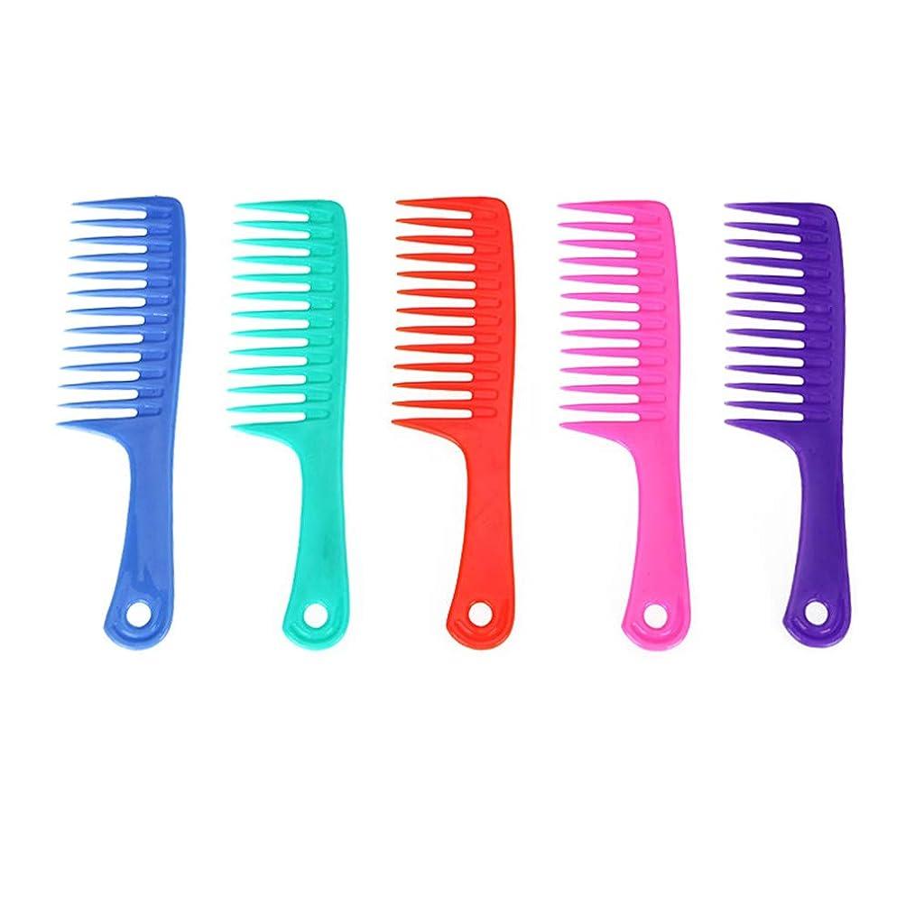 切手またはどちらかインポートLurrose 5ピースヘア理髪櫛サロンコームかみそり櫛理髪櫛スタイリングヘアコーム