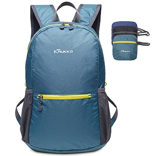 Wasserdicht Faltbarer Rucksack für Damen & Herren 18L - Ultra Leicht Tagesrucksack für den Alltag - Wanderrucksack Sportrucksack