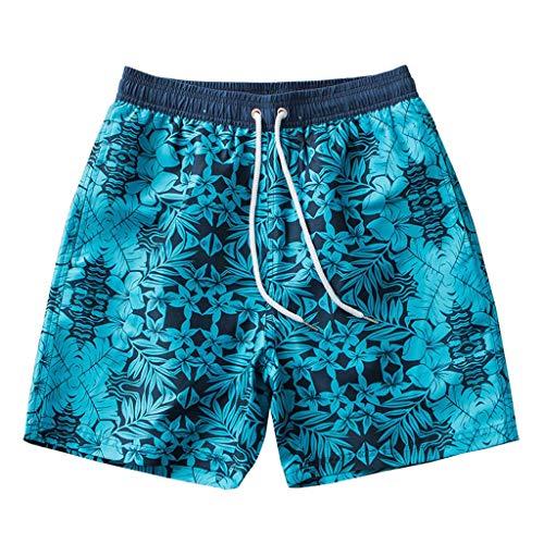 JIANGfu Uomo Costumi Stampa Fiore,Costume da Bagno Boxer per Mare Piscina Spiaggia Asciugatura Rapida Pantaloncini Banda Elastica