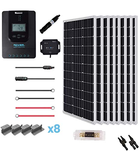 Renogy 800 Watt 24 Volt Off Grid Solar Premium Kit with Monocrystalline Solar Panel and 40A MPPT Rover Controller