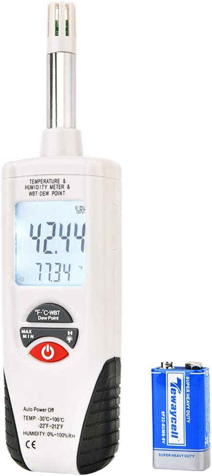Hygro-Thermometer Memphis New product!! Mall Psychrometer Handheld Humidity Temper Digital