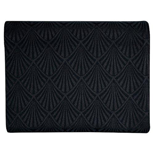 GreenGate Gate Noir - Tischdecke, Tischtuch, Decke - Celine Schwarz - 100% Baumwolle - 150 x 350 cm - mit Art Deco Muster