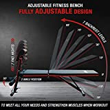 Respire Fitness Adjustable Weight Bench for Weightlifting, Personal Training, and Home Gym Workouts, Supports Incline, Decline, Press Movements, 7 Back and Height Positions, Full Body Workout