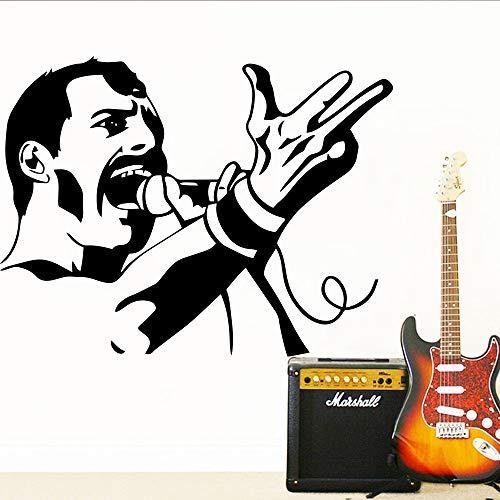 HNXDP Classic Queen Music band Vinilo Etiqueta de la pared Para Bar Wallpaper Habitación Decoración Dormitorio Decoración Wall Decal Mural 58cmx75cm