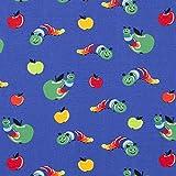 RosaliNum 0,5m Jersey Raupe mit Apfel Mittelblau 95%